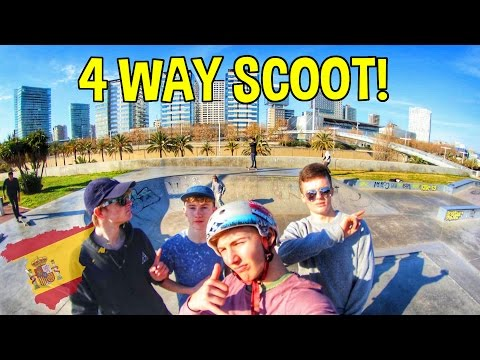 4 WAY GAME OF SCOOT IN BARCELONA!