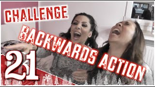 Backwards Action Challenge feat. Soraya Ali #SantaGirls