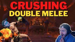 CRUSHING Double Melee!!! Elemental Shaman 3v3 Arena Commentary Shadowlands 9.1