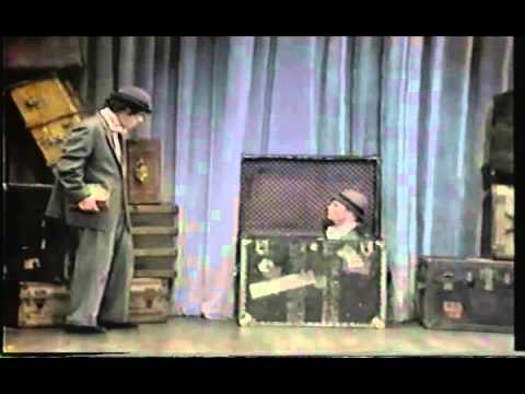 Bill Irwin goes down the stairs