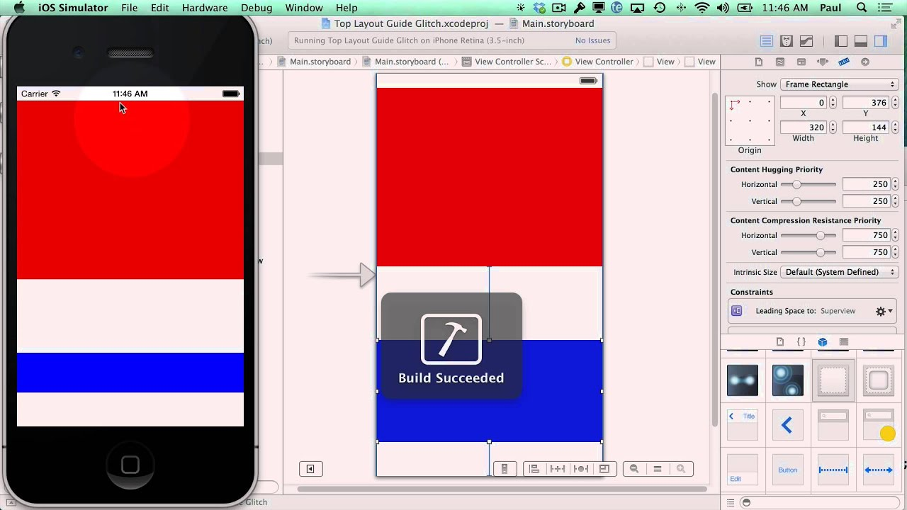 xcode 5 top layout guide glitch with auto layout fix your auto