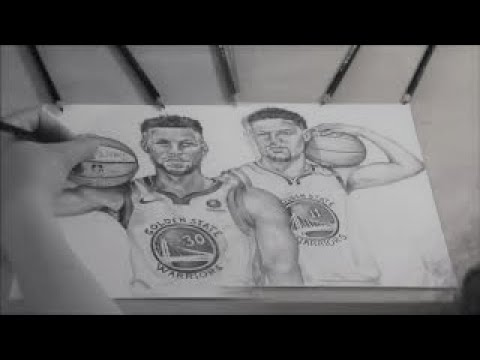 Drawing Stephen Curry & Klay Thompson: Golden State Warriors