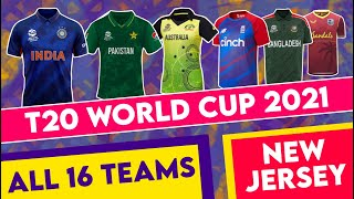 T20 World Cup 2021 - All 16 Teams New Jersey For ICC World Cup 2021 | MY Cricket Production