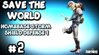 Save the World Fortnite - HOMEBASE STORM SHIELD DEFENSE 1 Walkthrough and Rewards - Part 2 Stonewood