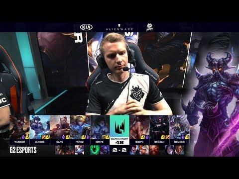 Fnatic vs G2 eSports - Game 5 | Round 2 S9 LEC Summer 2019 Playoffs | FNC vs G2 G5