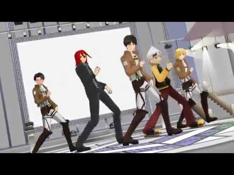 Soul Eater and Attack on Titan Dance TestMMD