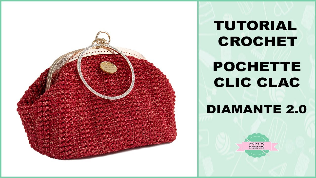 Tutorial Pochette Diamante 20 Uncinetto Punto Fantasia
