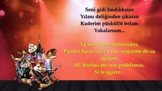 Tarkan - Şımarık/Kiss Kiss (Chipmunk Version + Lyrics)