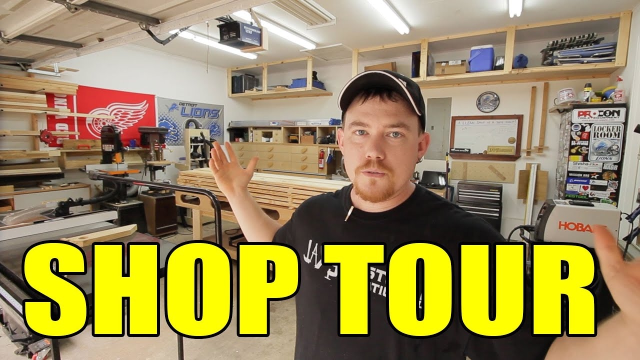 2 car garage woodshop shop tour 2015 youtube for One car garage woodshop