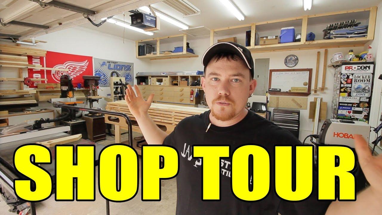 2 Car Garage Woodshop Shop Tour 2015 Youtube