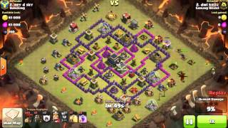 Clash of Clans Indonesia SARUNG BODOL (COC) - Attack Strategy TH9 with Balloons Lava (Lavalon) #38
