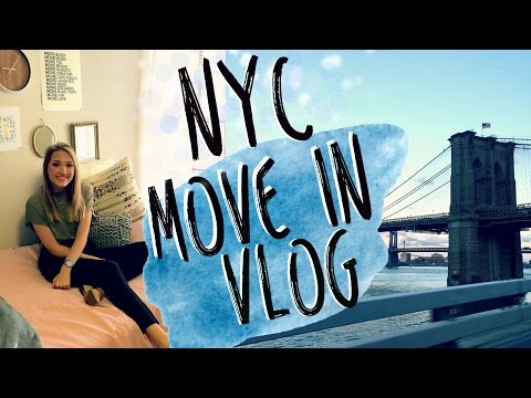 NEW YORK CITY MOVE IN VLOG   College Move in Vlog 2016!