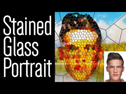 Photoshop: How To Create A STAINED GLASS Portrait!