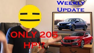 New Civic Si only has 205 hp and Other News! Weekly Update