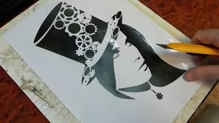 Как сделать трафарет | How to make a stencil