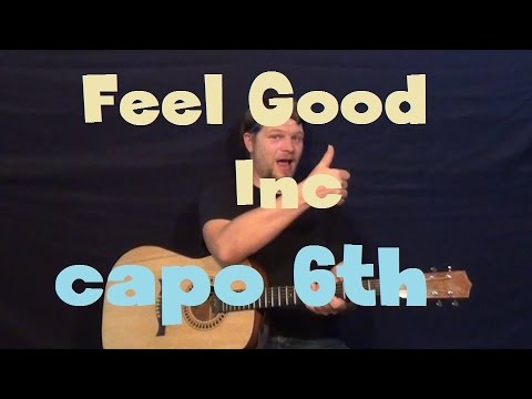 Feel Good Inc Gorillaz Easy Strum Guitar Lesson With Licks In Tab