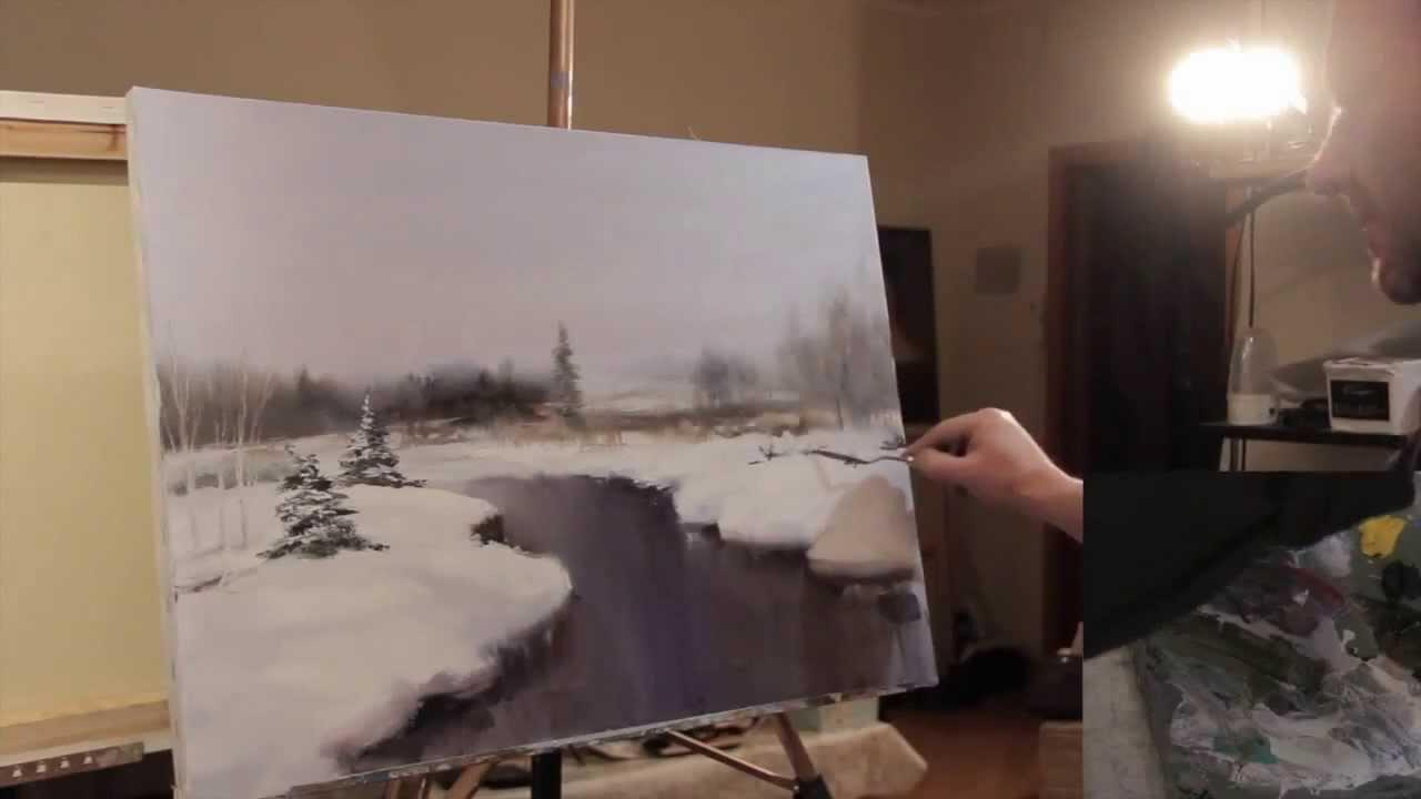 Художник Сахаров. Уроки живописи: Асфальтовая дорога - YouTube