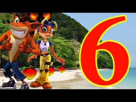 Crash Bandicoot 3: Warped Walkthrough Part 6 - High Time Death Route! Tomb Time Purple Gem!