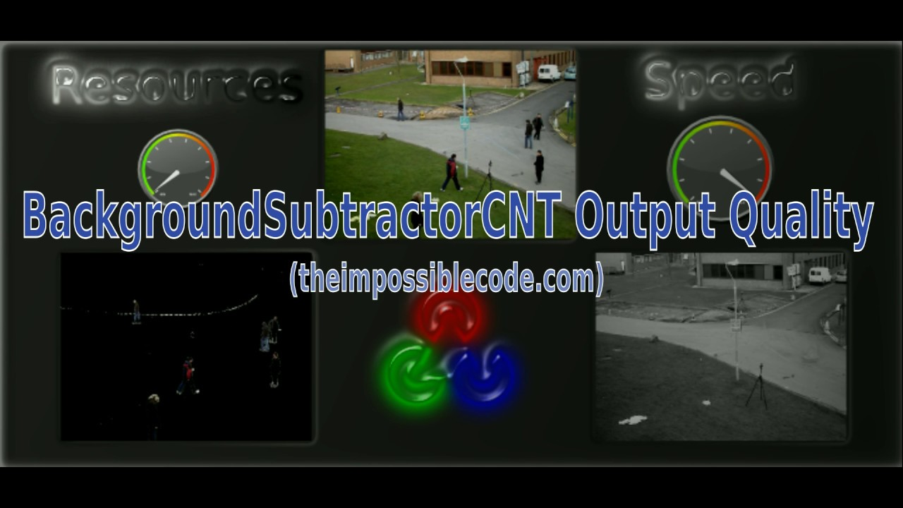 Fastest background subtraction is BackgroundSubtractorCNT - The