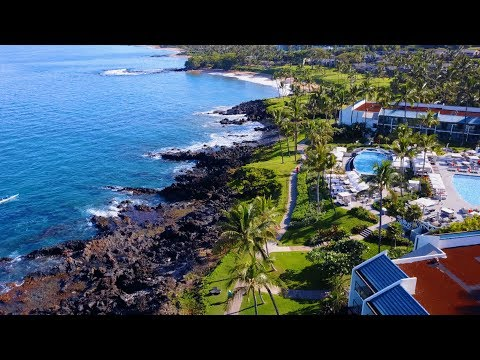 Maui Wailea beach path from above 4k - DJI Mavic pro