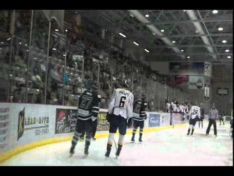 Crusaders #27 Danny Smith @ Grande Prairie Storm.wmv