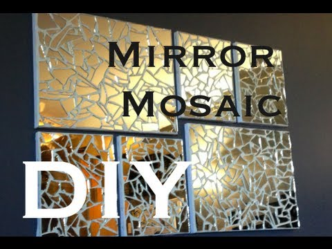 Diy Mirror Mosaic Art ♡ Theeasydiy Artforthenonartist