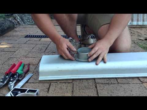 How To Cut A Drop For A Downpipe In Guttering