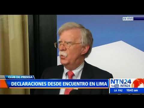 John Bolton habla sobre congelamiento de activos del régimen de Venezuela en EEUU