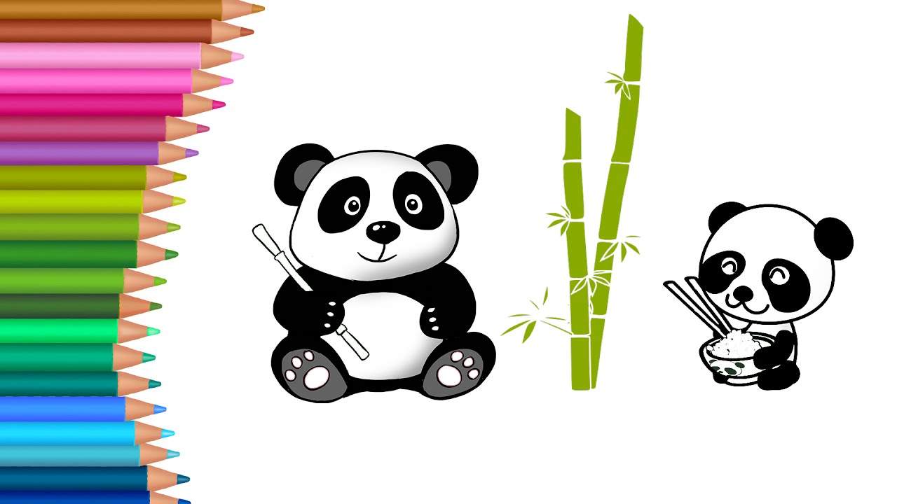 Panda Coloring Pages Cute Baby Panda Coloring Pages For Kids To Learn To Color For .