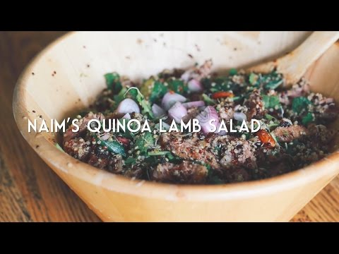 Oregano Lamb Meatballs with Quinoa Salad