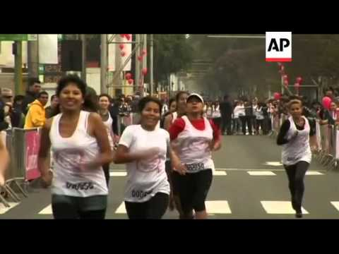 Women race in high heels to raise money for charity