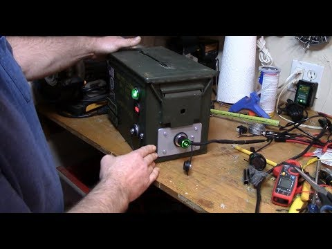 the best attitude b06ef 4246a DIY 12v battery power box (ammo can, air cooled, 35 aH AGM battery,  voltmeter, lighted switch)