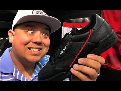 810ec9f93a02d aDIDAS CONTINENTAL 80 CORE BLACK  POWERPHASE  SNEAKER REVIEW - YouTube