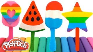 How to Make Play-Doh Ice Cream with Molds * Fun Play for Kids * RainbowLearning