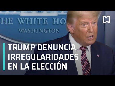 Mensaje de Trump tras las elecciones en Estados Unidos 2020 - Las Noticias