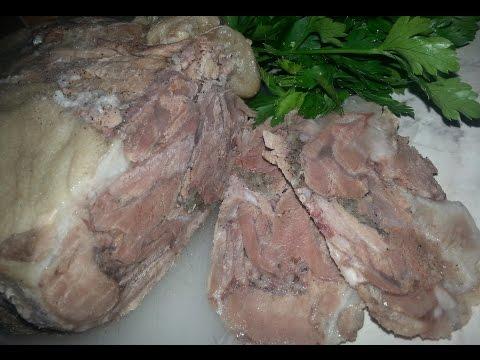 Домашняя ветчина из свиной рульки