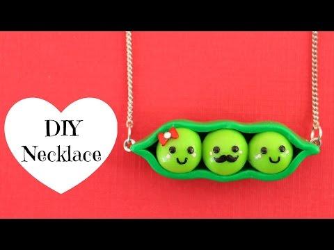 DIY Peas In A Pod Necklace