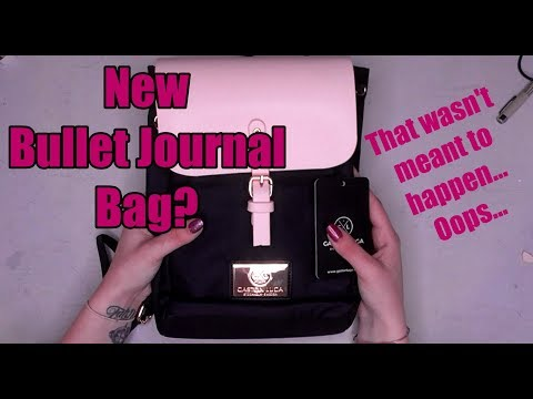 The perfect Bullet Journal bag? Gaston Luga Review