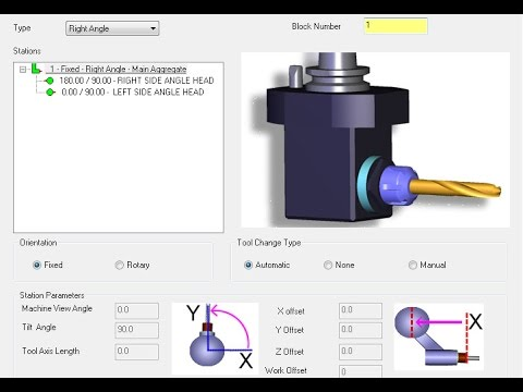 Mastercam tutorial: Programming using angle head in Mastercam