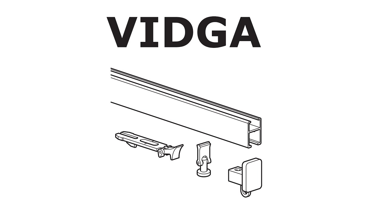 how to install ikea vidga rail single track