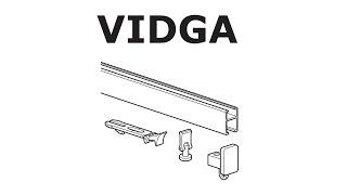 HOW TO INSTALL IKEA VIDGA RAIL: SINGLE TRACK