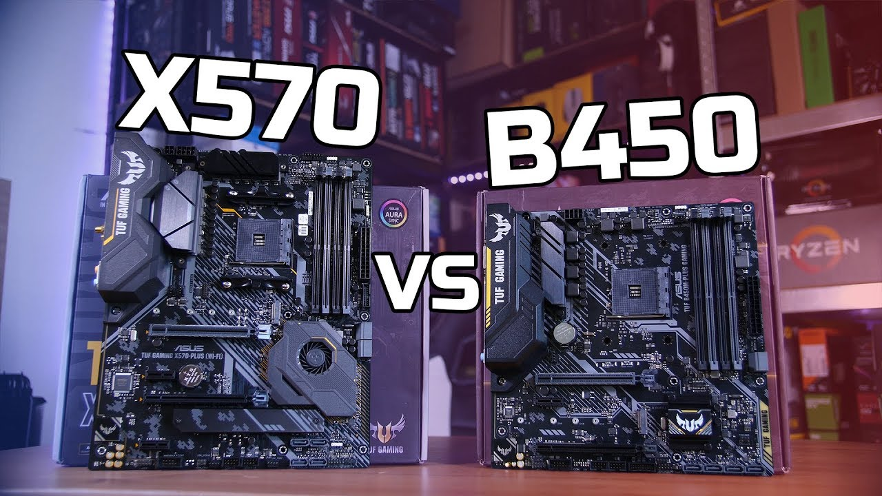 X570 Vs B450 For Mid Range Gaming Youtube