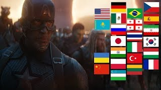 """""""AVENGERS ASSEMBLE"""" in different languages"""