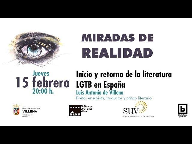 Inicio y retorno de la literatura LGTB en España