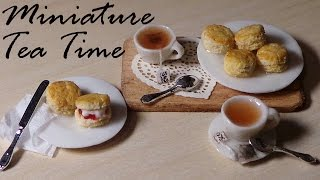 Tea Time; Miniature Tea, Tea Bags & Scones - Polymer Clay Tutorial
