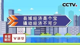 《央视财经V讲堂》 20190718 县域经济是个宝 撬动经济不可少| CCTV财经