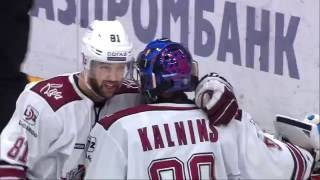 Janis Kalnins robs Shipachyov with glove save