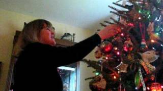 Mom Decorating Christmas Tree - 2006
