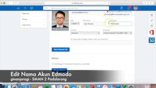 edit nama akun pengguna edmodo