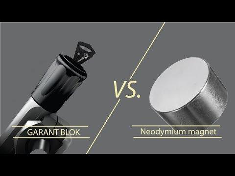 Вскрытие замка Гарант Блок неодимовым магнитом